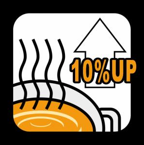 10%up