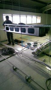 空調送風機冷媒銅管安裝及配電