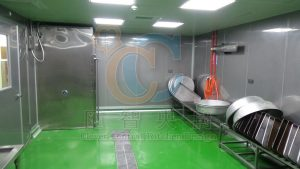 台車式高效能雙開恆溫殺菌箱,排水洩水坡度設計易清潔排污