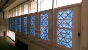 空氣濾網搭配百葉窗,過濾進入廠區的新鮮風