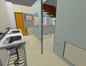 3D 規劃圖與現場設備尺寸防止隔間後設備擺不進去。