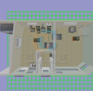 央廚3D俯視圖