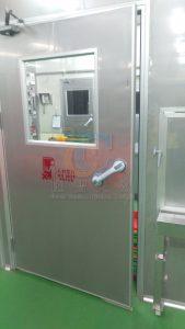 管制廠內氣流潔淨度,單向門控制人流走向