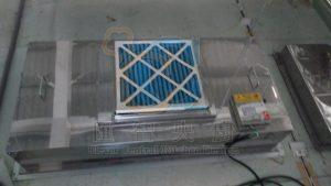 管制廠內氣流潔淨度、簡易氣窗型拆裝空氣過濾網