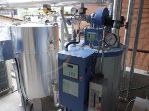 鍋爐系統提供蒸氣與熱水
