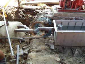 汙水系統-油脂截流槽&汙水曝氣池