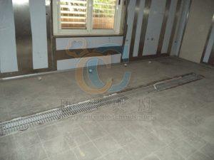 新鋪地磚&不鏽鋼水溝