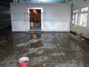 增高地板灌漿前鐵網舖設