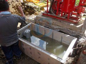 污水排放池管路定位及配置