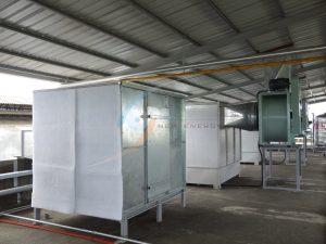 換氣系統-抽風機水洗塔&過濾補氣風機