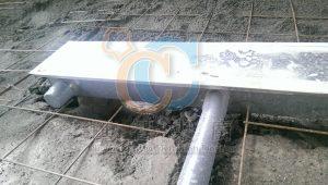 不鏽鋼排水溝與排水管路連結