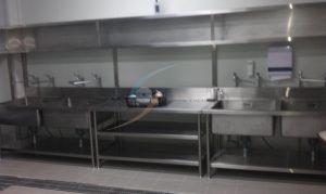 前處理區 – 全面使用不鏽鋼器具,耐用易清潔
