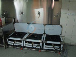 高效能單口爐壁座,便於收拾清潔