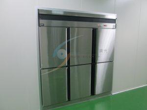 雙邊對開傳遞冰箱,分流暫存一次完成