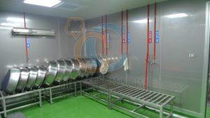清洗區冷熱水易辦識,器具放置簡易化設計