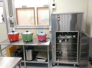 員工休息室與器具消毒櫃