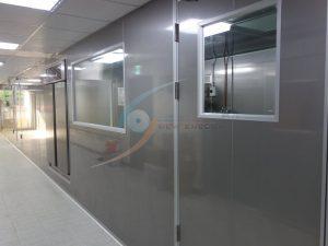 中央走道搭配玻璃視窗,可打造觀光工廠參觀動線