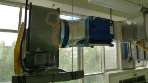 不銹鋼高靜壓值抽風機和靜電處理機